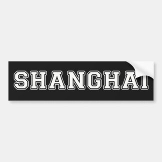 Shanghai Bumper Sticker