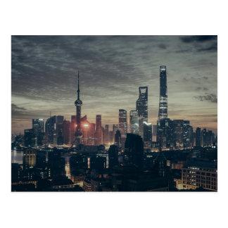 Shanghai by Night Postcard