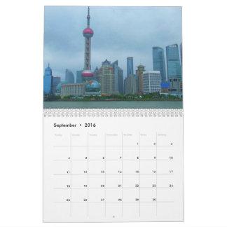Shanghai China 2016 Calendar