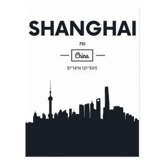 Shanghai, China | City Coordinates Postcard