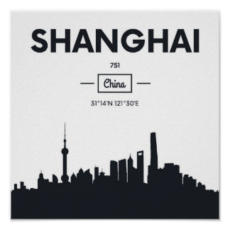 Shanghai, China | City Coordinates Poster