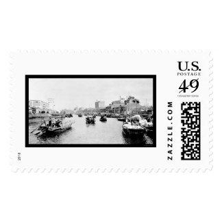 Shanghai, China Cotton Boats 1898 Postage