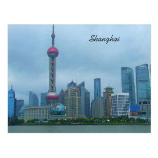 Shanghai China Oriental Pearl Tower On The Bund Postcard