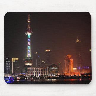 Shanghai, China skyline at night Mouse Pad