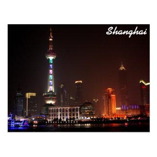 Shanghai, China skyline at night Postcard