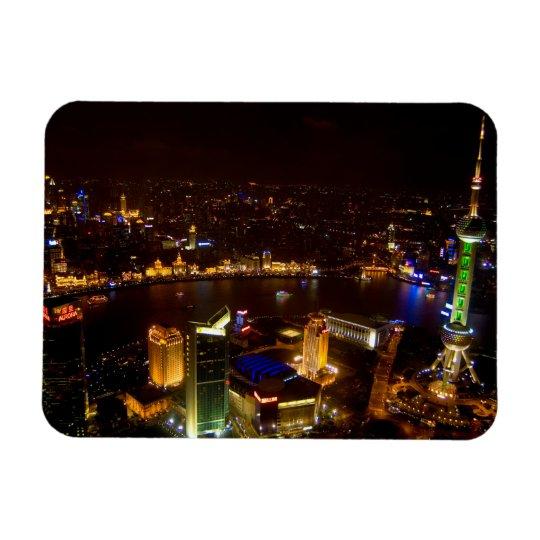 Shanghai China wonderful skyline with modern Magnet
