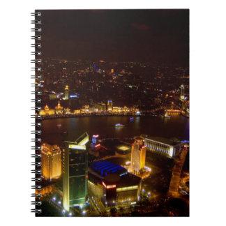Shanghai China wonderful skyline with modern Notebook
