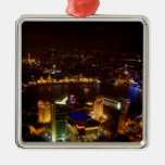 Shanghai China wonderful skyline with modern Christmas Tree Ornaments
