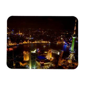 Shanghai China wonderful skyline with modern Rectangle Magnet