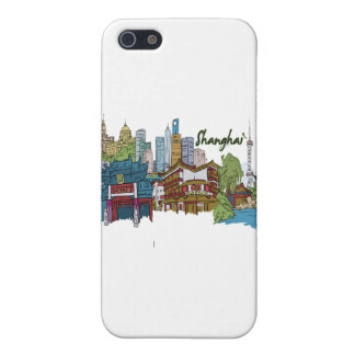 shanghai city muted colors design.png cover for iPhone SE/5/5s