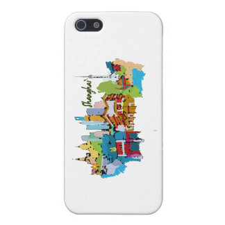 shanghai city watercolored muted colors design.png iPhone SE/5/5s case