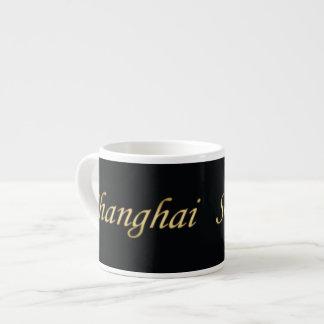Shanghai Gold - English - On Black Espresso Cup