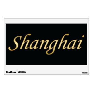 Shanghai Gold - English - On Black Wall Decal