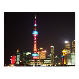 Shanghai Night Postcard