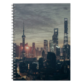 Shanghai Night Skyline Notebook