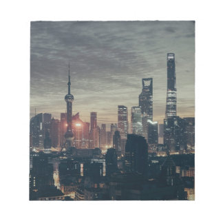 Shanghai Night Skyline Notepad