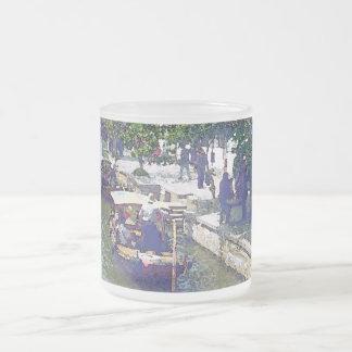 Shanghai Tong Li Water-Town 10 Oz Frosted Glass Coffee Mug
