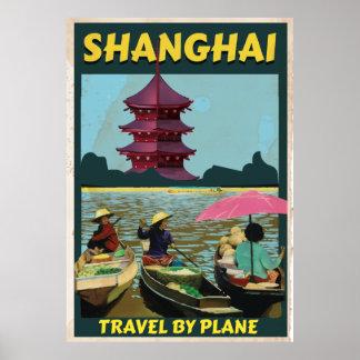 Shanghai vintage travel poster