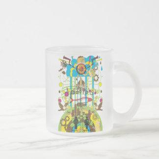 Shangri-La Frosted Glass Coffee Mug