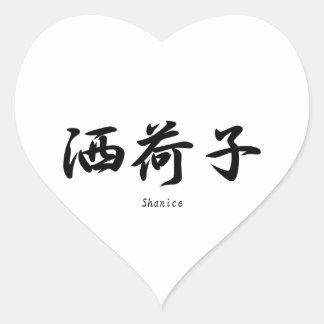 Shanice translated into Japanese kanji symbols. Heart Sticker