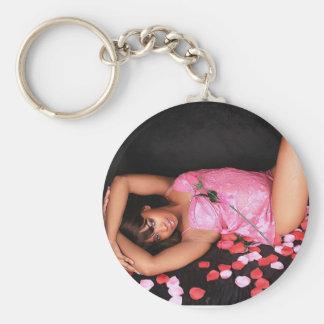 Shanissa Basic Round Button Keychain