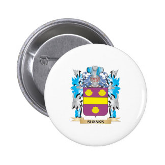 Shanks Coat of Arms - Family Crest Pinback Buttons