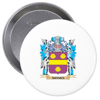 Shanks Coat of Arms - Family Crest Pinback Button