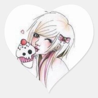 ShannaSkull Anime Heart Sticker