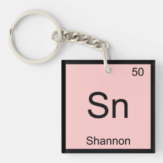 Shannon Name Chemistry Element Periodic Table Keychain