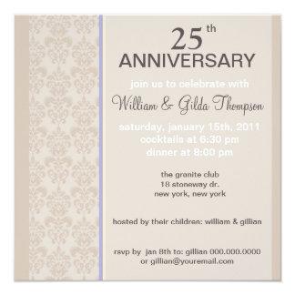 Shantelle Damask Anniversary Invitations
