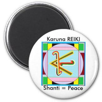 Shanti i.e. Peace: Karuna Reiki Healing Symbol 2 Inch Round Magnet
