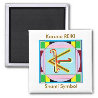Shanti i.e. Peace: Karuna Reiki Healing Symbol 2 Inch Square Magnet