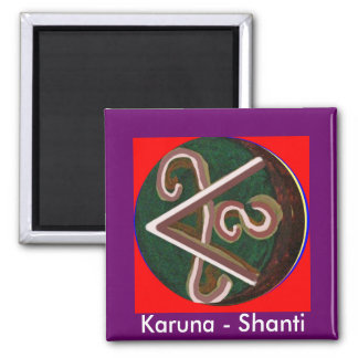 Shanti = Peace 2 Inch Square Magnet
