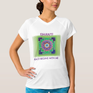 SHANTI PEACE BEGINS WITH ME T-Shirt