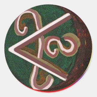 Shanti = Peace Classic Round Sticker