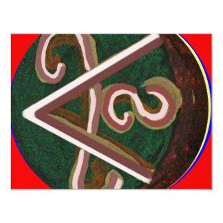 "Shanti = Peace 4.25"" X 5.5"" Invitation Card"