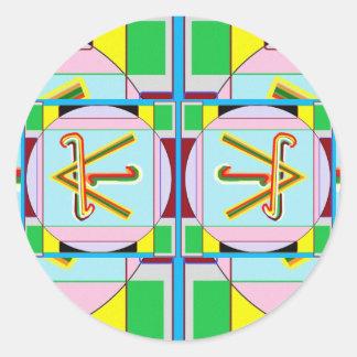 SHANTI = Peace: Karuna Reiki Classic Round Sticker