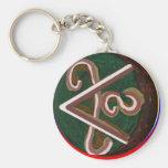 Shanti = Peace Keychain