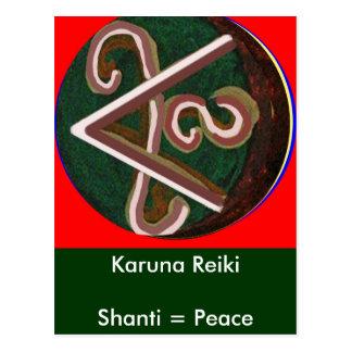 Shanti = Peace Postcard