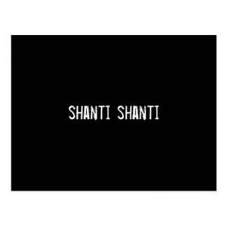 shanti shanti postcard