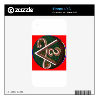 SHANTI Symbol : for Peace Lovers Decals For The iPhone 4S