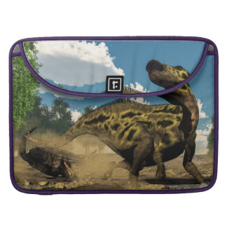 Shantungosaurus defending from tarbosaurus sleeve for MacBook pro