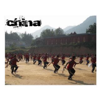 Shaolin Temple Tarjeta Postal