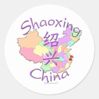 Shaoxing China Pegatina Redonda