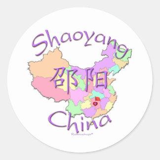 Shaoyang China Pegatina Redonda