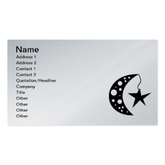 shape031 Moon Stars circles cartoon graphics Double-Sided Standard Business Cards (Pack Of 100)
