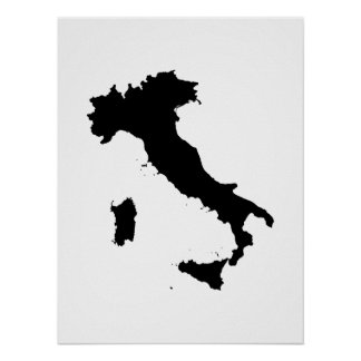 Shape of Italy Poster