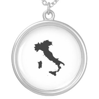 Shape of Italy Round Pendant Necklace