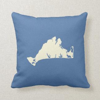 Shape of Martha's Vineyard reversible pillow