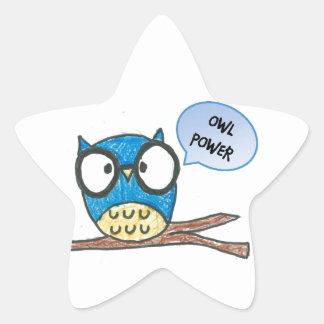 Shape:Star Stickers_ Owl power or customize it Star Sticker